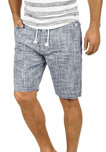Blend Bones Herren Leinenshorts Kurze Leinenhose Bermuda In Leinen-Optik Aus 100% Baumwolle Regular Fit, Größe:XL, Farbe:Navy (70230)