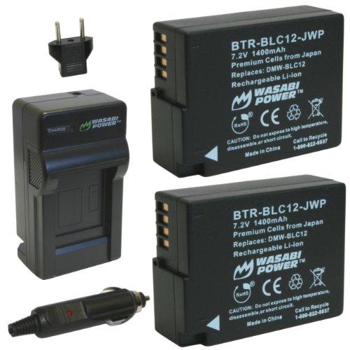 Wasabi Power kit-btr-blc12-lch-blc12-01Auto/Indoor Schwarz Akku Ladegerät-Akku Ladegeräte (1400mAh, 7,2V, schwarz, Auto/Garten Battery Laden)