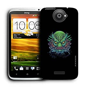 Snoogg Ugly Fish Designer Protective Back Case Cover For HTC ONE X