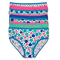 Simply Adorable Big Girls Multi Color Polka Dot 7 Pc Underwear Set 12