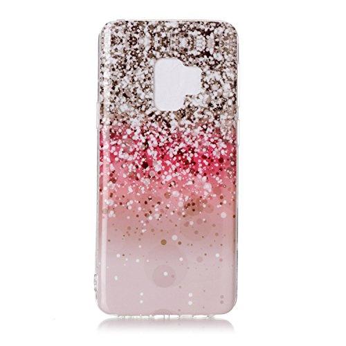 inShang Samsung Galaxy S9 custodia cover del cellulare, Anti Slip, ultra sottile e leggero, custodia morbido realizzata in materiale del TPU, frosted shell , conveniente cell phone case per Galaxy S9, Pink gold shiny crystal