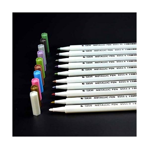 Pennarelli Metallici, Beurpo Set Di 10 Penne Metallici Marker Specifici Per Album Fotografici, Scatole e Biglietti… 2 spesavip