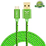 Micro USB Cable ULTRICS® Nylon Braided Charger Cable 10ft / 3M Tangle Free Sync Charge USB Android Charger Lead for Samsung Galaxy, Sony, Nokia, Microsoft, HTC, Motorola, Kindle, Nexus, Huawei, LG, Xiaomi, OPPO - Lifetime Warranty, Money back Guarantee - Green