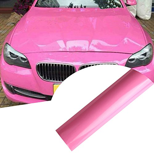 HOHO glänzend Wrap Vinyl Aufkleber Auto Fahrzeug-Styling FILM Pink 152,4x 30,5cm