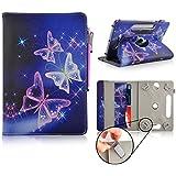 Universal 360 Grad casezilla Encerrando PU-Funda para A20 17.78 cm MID APAD Epad Netbook Tablet Elektrischer Schmetterling Ingo Disney Frozen Tablet 7 Inch