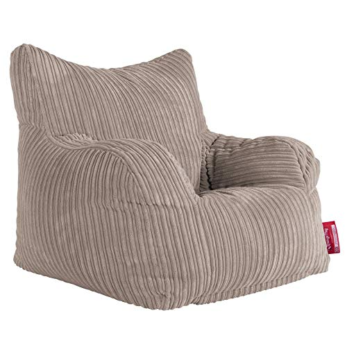 Lounge Pug, Sitzsack Ohrensessel, Cord Nerzfarben