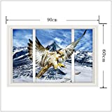 ALLDOLWEGE Die Stereoanlage Wall Mount Snow Eagle3D Wand Aufkleber wallpaper Poster