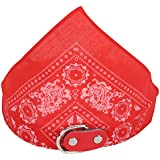 SRI High Quality Adjustable Neck Scarf Neckerchief Bandan Collar For Dogs Puppy And Small Cats (Red)