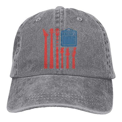 Roll Rock Männliche N Kostüm - Rock N Roll USA Flag Unisex Baseballcap Cowboy Hat Dad Hats Trucker Hat