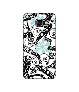 """NH10 DESIGNS 3D PRINTING DESIGNER HARD SHELL POLYCARBONATE """"PATTERN"""" PRINTED SHOCK PROOF WATER RESISTANT SLIM BACK COVER MATT FINISH FOR SAMSUNG GALAXY A3 2016"""