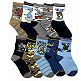 Cczmfeas Calcetines de niño Calcetines de Dinosaurios algodón grueso Comfort 10 Pack de niños