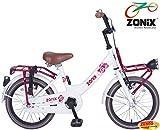 Zonix Mädchen Fahrrad Weiß 16 Zoll mit Frontträger