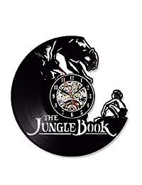 Hollow Negro CD de Dibujos Animados Registro Reloj de Pared Libro de la Selva Vinilo Estilo Antiguo Reloj de Pared…