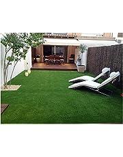 LOWRENCE Durable Natural Landscape Garden Plastic Turf Carpet Mat, Artificial Grass Pile (6.5 X 10 ft/Height 35 mm)
