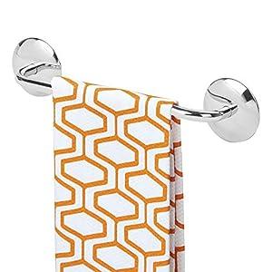 mDesign Toallero Adhesivo AFFIXX para paños de Cocina y Toallas – Montaje sin Taladro – Práctico toallero de Barra…