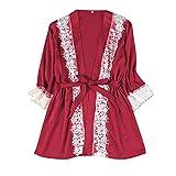 CICIYONER Nachtkleid Damen Nachthemd Frauen Pyjamas Sexy Satin Silk Nachtwäsche Dessous