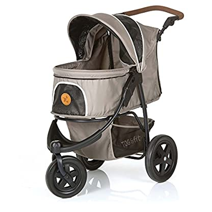 TOGfit Pet Roadster - Luxury Pet Stroller for Puppy, Senior Dog or Cat | Easy Foldable Three Wheels Travel Pet Jogger… 3