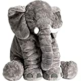 MummaSmile® Big Size Fibre Filled Cotton Stuffed Animal Elephant Shaped Baby Pillow or Elephant Soft Toys for Kids Toddlers a