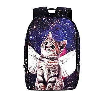 ACMEDE Mädchen Teenager Rucksack Schulrucksack Backpack 3D Druck Katze Daypack 31 x 15 x 48 cm