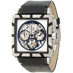 Edox Men's 95001 357N NIN Classe Royale - Limited Edition Automatic Chronograph Sapphire Crystal Skeletal Dial Leather Watch