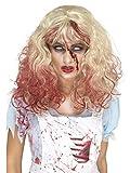 Smiffys 46858 Déguisement Femme, Perruque Alice Zombie Sanguinolente Os Blonde