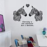 HLLCY Love Zebra Creative Decoration Wall Stickers Bar Bedroom Living Room Warm Wall Stickers Corridor Wall Stickers