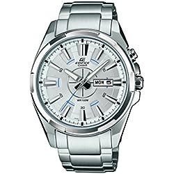 Casio Herren-Armbanduhr XL Edifice Analog Quarz Edelstahl EFR-102D-7AVEF