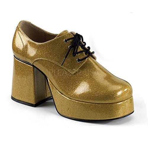Funtasma 70s Disco Herren Plateauschuhe Jazz-02G Gold Gr. 45