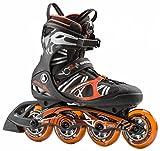 K2 Herren Inline Skate VO2 90 Speed Boa M Inlineskate, Schwarz/Orange, 8.5