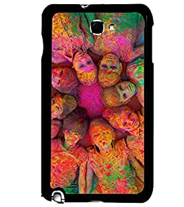 Printvisa Multiple Kids Holi Pic Back Case Cover for Samsung Galaxy Note i9220::Samsung Galaxy Note 1 N7000