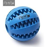 PetPäl Hundeball mit Zahnpflege-Funktion Noppen Hundespielzeug aus Naturkautschuk | RobusterHunde Ball Ø 7cm | Hundespielball für Große & Kleine Hunde | Kauspielzeug aus Naturgummi für Leckerli