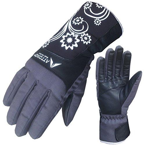 ATTONO Damen Skihandschuhe Ski Langlauf Snowboard Handschuhe warme Langlaufhandschuhe - 6/XS