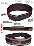#5: Xtrim Dura Belt -MEN GYM FITNESS WEIGHT LIFTING BELT Foam Padded Leather Contoured Weightlifting Belt with Moisture wicking Lining and Steel Roller Adjuster- WIDE 4 INCHES WIDTH - SATISFACTION GUARANTEED !