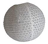 AAF Nommel ®, 260, Lampion 1 STK. Papier Weiss japanisch rund gelöchert. Durchmesser 40 cm