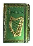 Foliertes Irland-Notizbuch mit Harfe und keltischem Muster mit Triqueta-Knoten