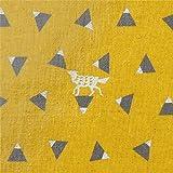 Senfgelbes Wachstuch mit Dreiecken von echino