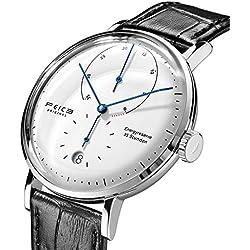 Automatico Reloj FEICE Relojes Mecánicos con Espejo Arqueado Mecánicos Movimiento Multifunciones Reloj de Pulsera para Hombre - FM202