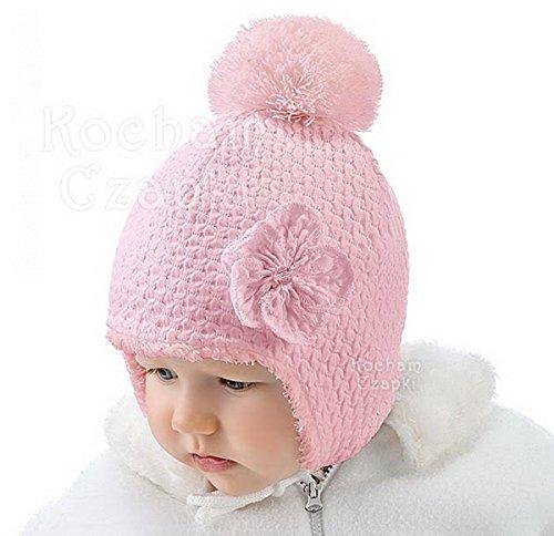 Bébé Fille Fille infantile Chapeau Automne Hiver chaud Chapeau de baptême  de baptême 0 3 6 7ea9c4e0c54