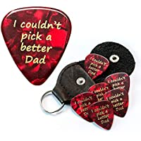 I couldn't pick a better Dad 6 Guitar Picks With Leather Plectrum Holder Keyring