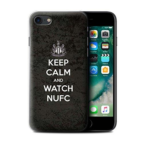 Offiziell Newcastle United FC Hülle / Case für Apple iPhone 7 / Geordie Muster / NUFC Keep Calm Kollektion Sehen NUFC