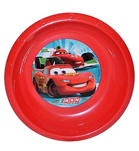 """Suppenteller / Suppenschüssel / Müslischale - Kinderteller """" Disney Auto Cars - Lightning McQueen """" - aus Kunststoff / Plastikteller Plastik - Geschirr für Kinder - Mc Queen Auto Jungen - Speiseteller"""