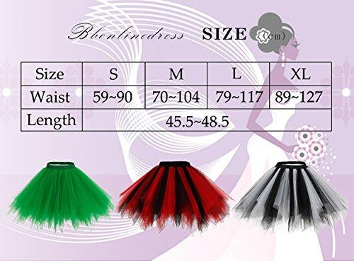 Bbonlinedress Kurz Retro Petticoat Rock Ballett Blase 50er Tutu Unterrock Black S - 6