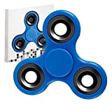 Premsons Fidget608 Four Bearing Hand Spinner Toy with Silver Steel Wing Bearings, Black