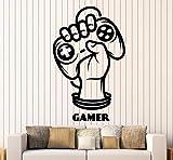 Pbldb 35X56 Cm Gamer Hand Joystick Player Wandtattoo Spiel Zone Jugendzimmer Dekor Aufkleber Abnehmbare Vinyl Kunst Wandbilder Aufkleber Für Jungen