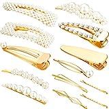 13 Pezzi Perle Artificiali Capelli Clip Perla Capelli Forcina per Capelli Spilla Accessori per Capelli Eleganti per le Donne Ragazze Matrimonio Festa Forniture