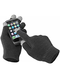 Unisex Mens Ladies Winter Touch Screen Magic Gloves for iPhone, iPad, Blackberry, Samsung, HTC and other smartphones, PDA's & Sat navs Keep Warm Glove In 3 Colours : Black, Pink Or Grey And 2 Sizes : Medium Or Large (Grey, Large)