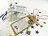 (BOTH) Santa\'s Magic Key & Magical Reindeer Food Father Christmas Eve No Chimney Oats Dust Kids Activity Tradition Glitter Handmade Rudolph
