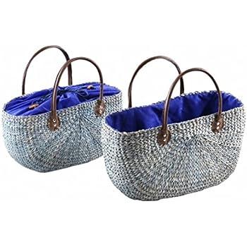 Neustanlo® Einkaufstasche/Einkaufskorb 1 Stk, aus Seegras