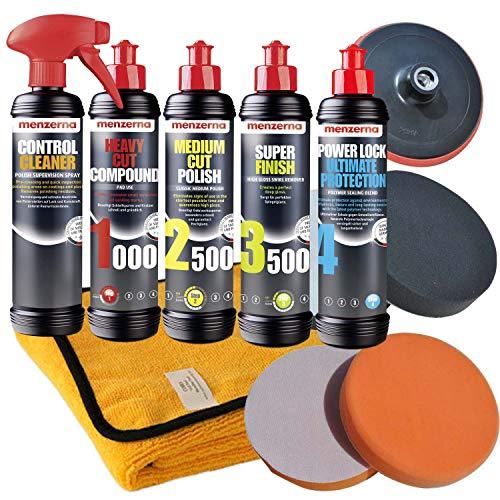 Craft-Equip Menzerna 1000 + 2500 + 3500 + Power Lock + Reiniger Auto Polierzubehör Set-MENZ8