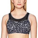 Maidenform Damen BH Sport-Wirefree High Impact Bra, Grau (Painterly Wash Grey Print), 80E (Herstellergröße: 36DD)